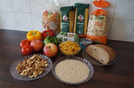 Essensauswahl für eine optimale Ernährung