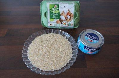 Eier und Thunfisch als gesunde Eiweißquelle